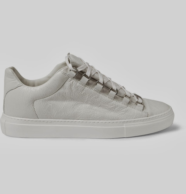balenciaga arena creased leather low top sneakers fashion brands. Black Bedroom Furniture Sets. Home Design Ideas