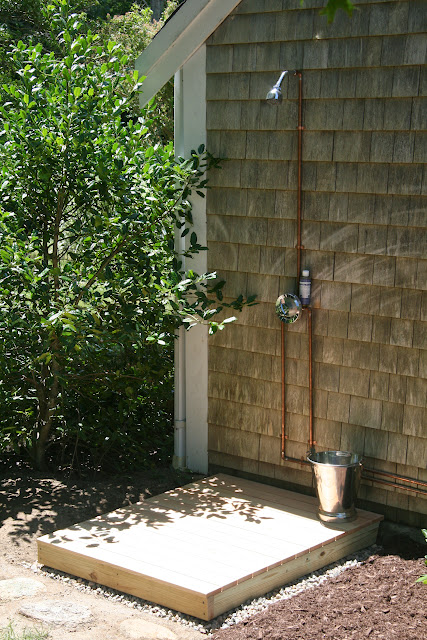 An old farm building an outdoor shower - How to make an outdoor shower ...