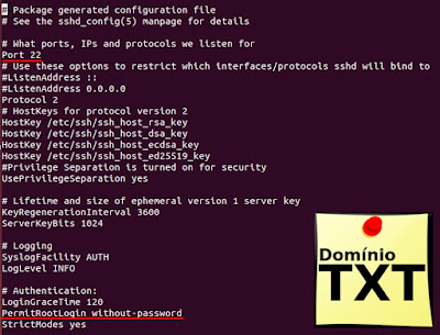 DominioTXT - SSH sshd_config