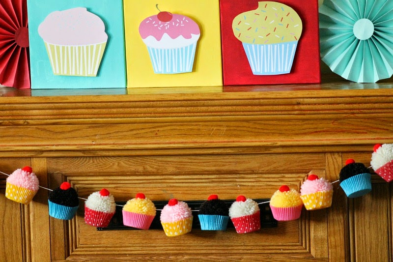 cupcake party supplies, little cupcake party, first birthdays