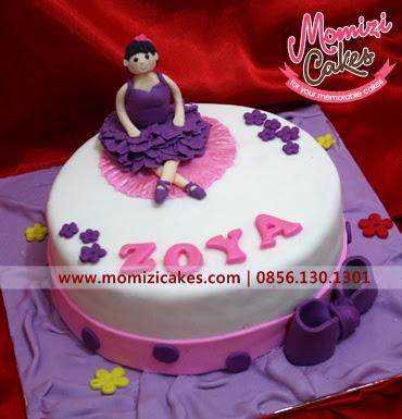 Momizi Cakes Ballerina theme Cake Zoya