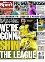 The back page of Thursday's Mirror newspaper