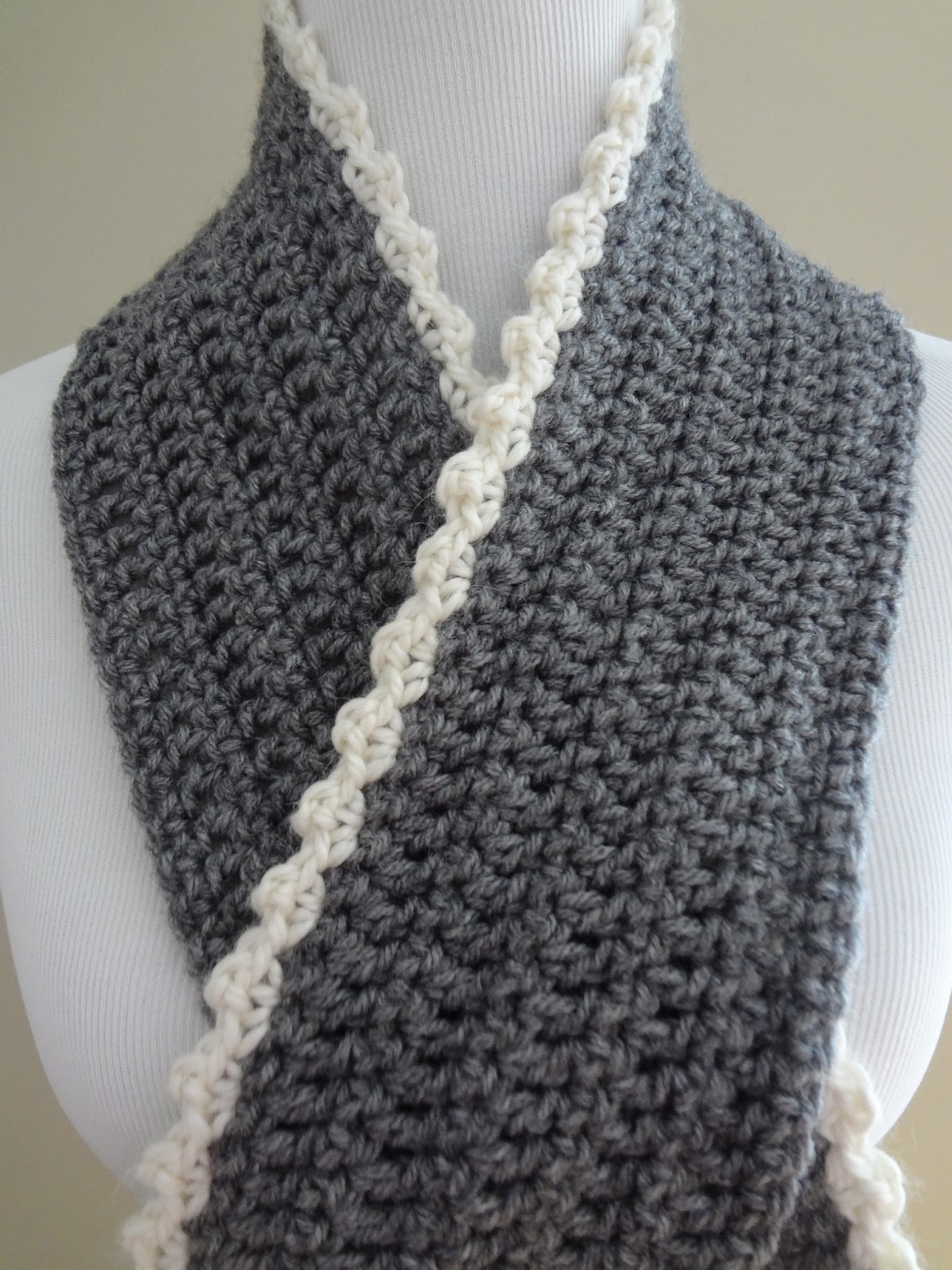 How To Crochet A Scarf : for scarf body make a chain that is the desired length of your scarf ...