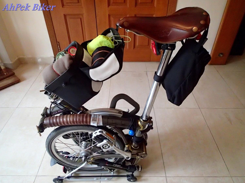 Ahpek Biker Old Dog Rides Again Brompton Accessories 14 Mini