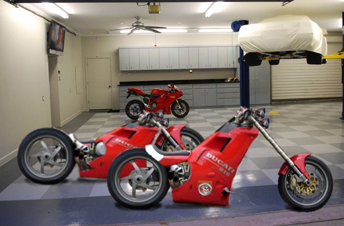 Power Sliding Sidecar Ducati Chopper And Low Rider By Valand
