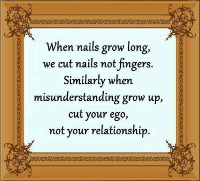 When nails grow long, we cut nails not fingers.