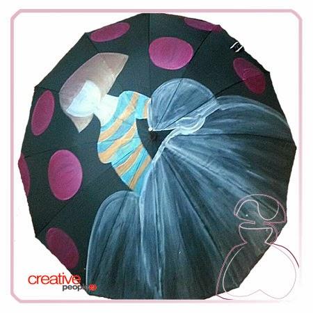 Pintar un paraguas a mano por Sylvia Lopez Morant, color