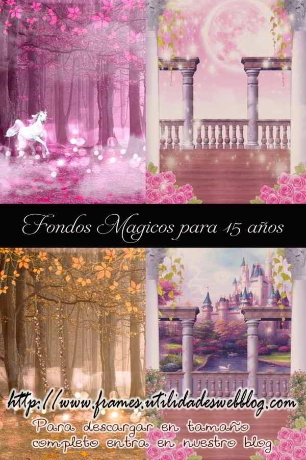 fondos de fantasía y magia para hacer fotomontajes de 15 años