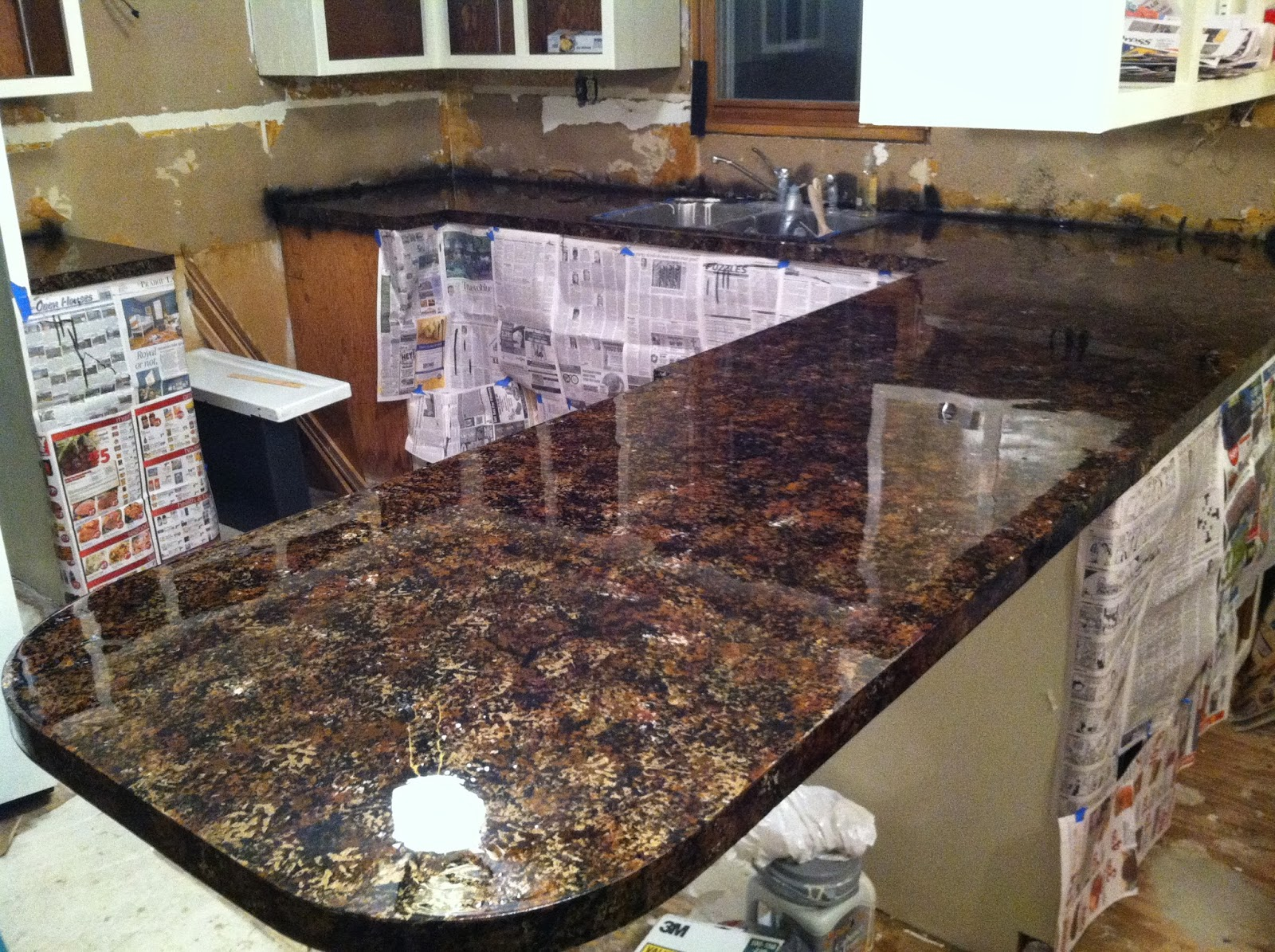 Diy why spend more faux granite countertops for 3 4 inch granite countertops