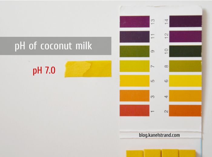 pH of coconut milk