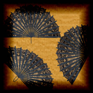 "Free scrapbook ""Elegant Black Fans"" from mgtcsdigitalartstuff"