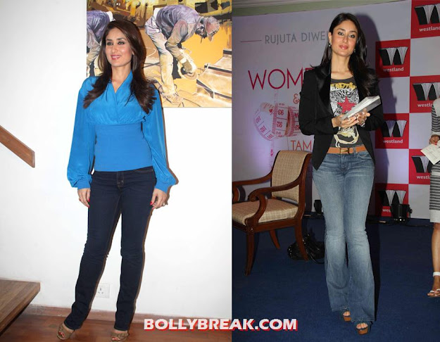Kareena in skinny and wide legged jeans  - bollywood beauties in Jeans !!!