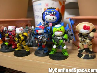 Hello Kitty Warhammer 40k cute Space Marine army armor