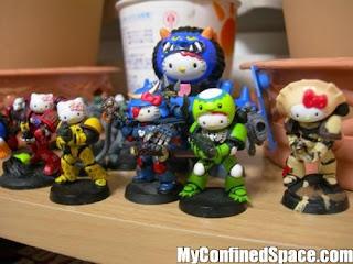 Hello Kitty Warhammer 40k cute Space Marine army armor