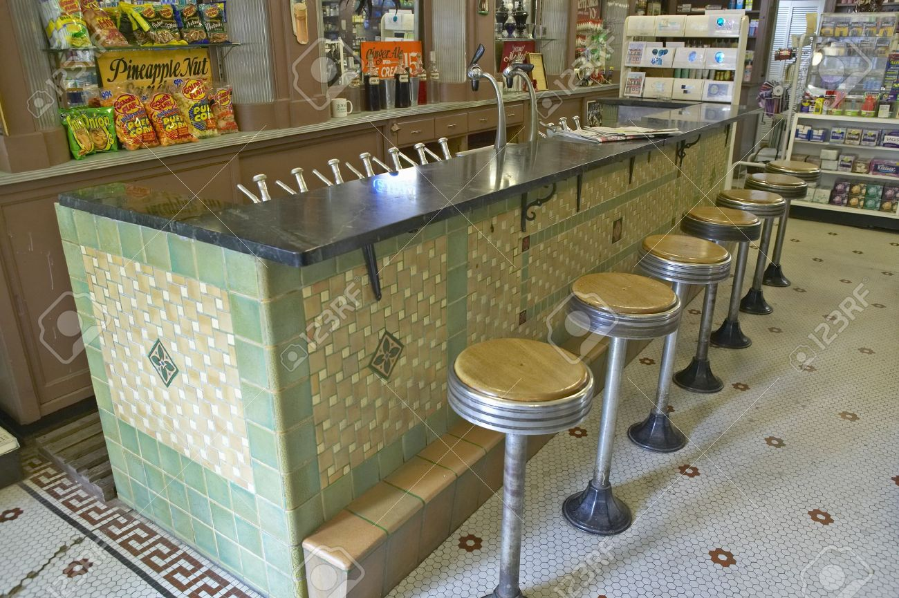 Books we love insider blog the corner drugstore by for Old fashioned pharmacy soda fountain