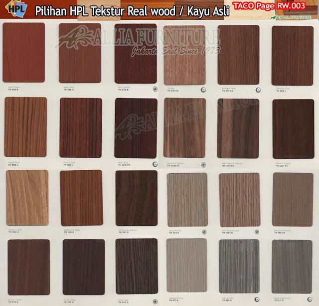 RW.03 HPL Taco motif tekstur kayu asli