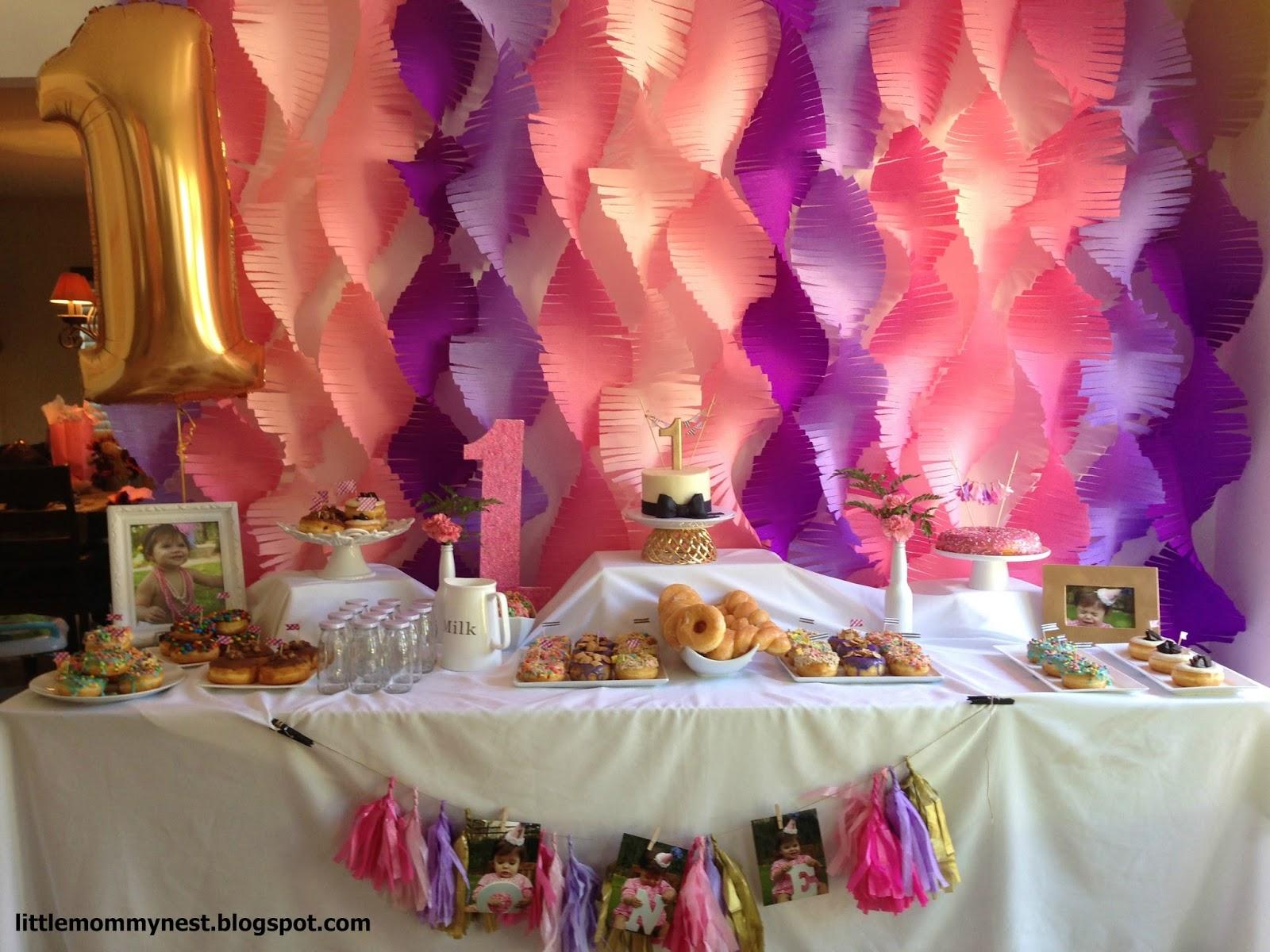 Bianca Lively Sophias 1st DIY Birthday Backdrop