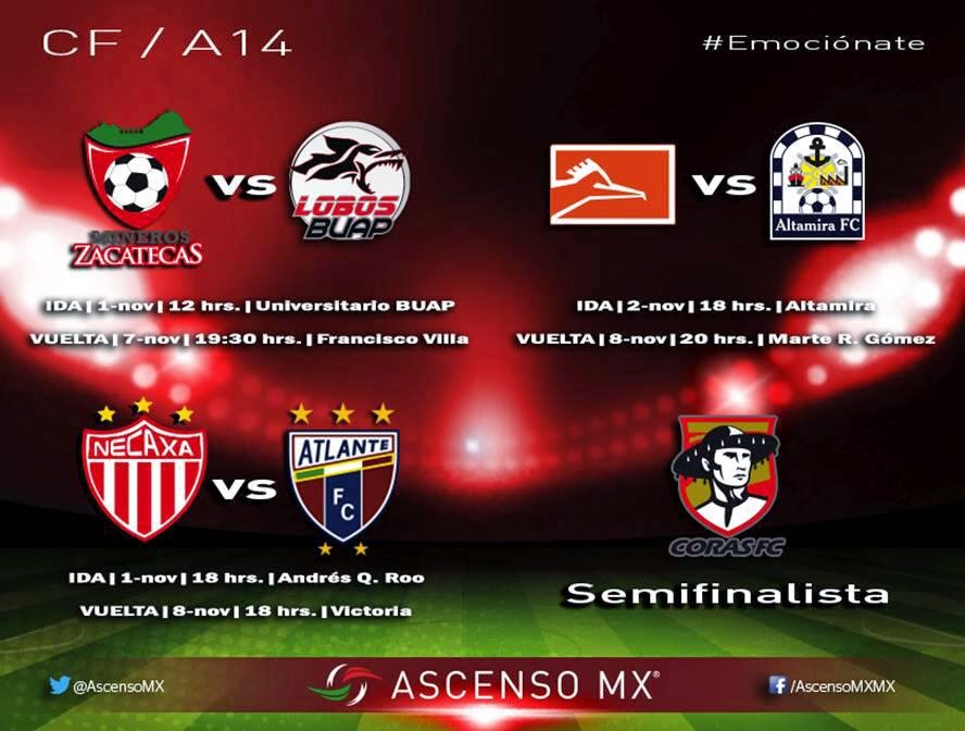 Cuartos Final Ascenso MX Apertura 2014