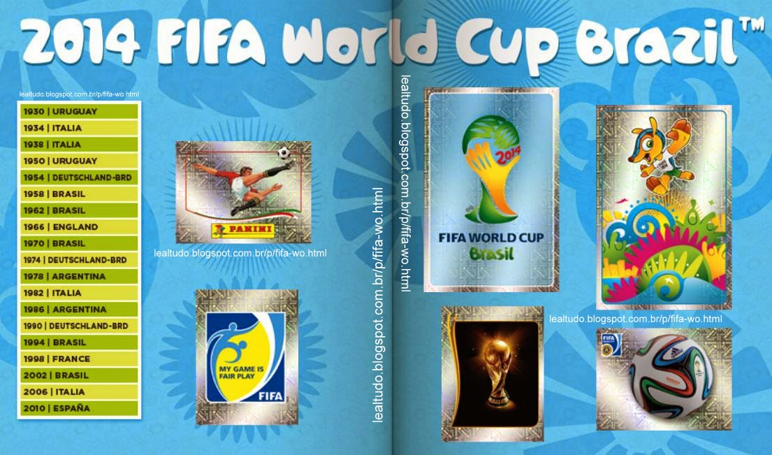 Album Page 1 Fifa World Cup BRAZIL 2014 LIVE COPA DO MUNDO Sticker Figurinha Download Lealtudo