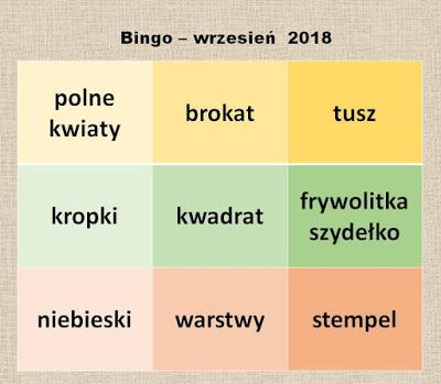Kartki u Ani - wrzesień 2018r