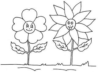 Desenhos Preto e Branco girassol Colorir