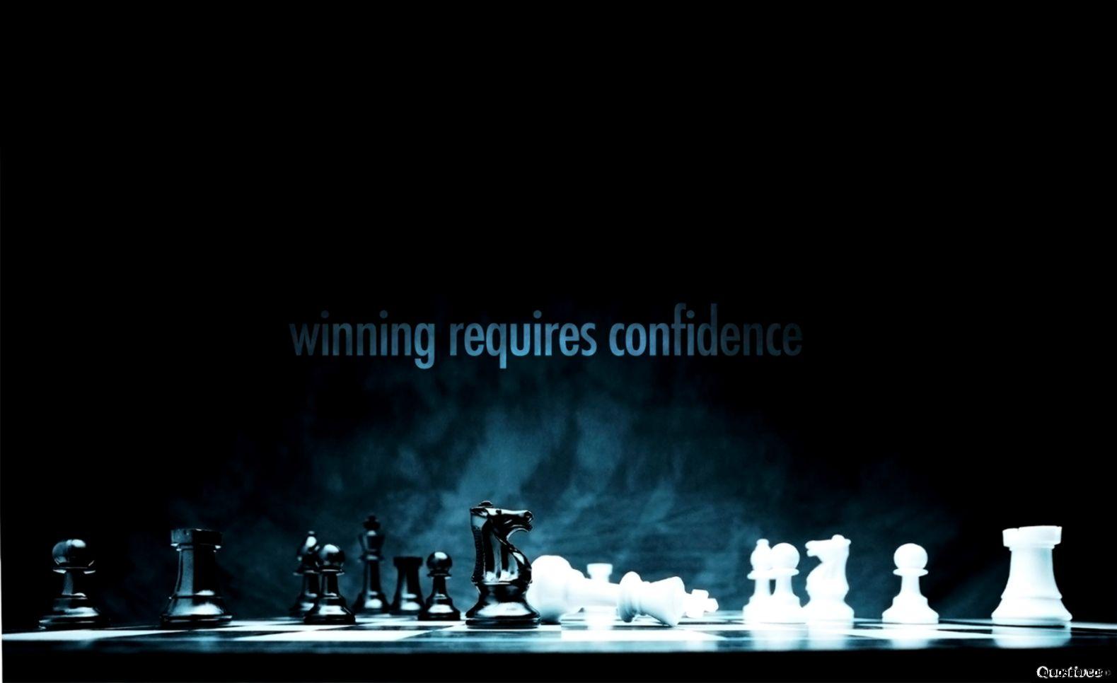 Winning requires confidence   Motivational Quote Wallpaper  Quotivee