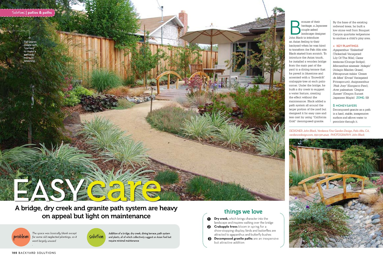 to have my work featured on the current cover of backyard solutions