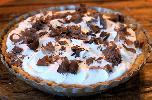Caramel Pie, Whipping Cream,Romanian