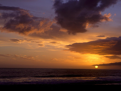 Sunset With Sky In Carpinteria, California Wallpaper