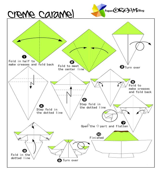 sweet food origami creme caramel paper origami guide
