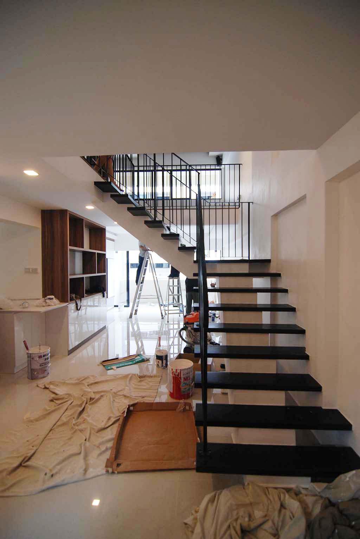 Butterpaperstudio reno towner maisonette staircase for Maisonette house designs