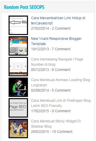 Widget Random Post For Blogger