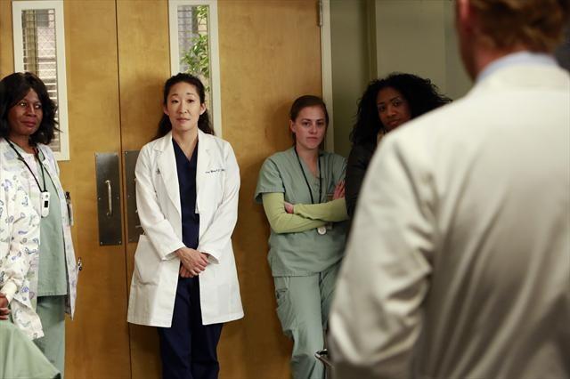 "Sandra Oh as Cristina Yang in episode 9.15 ""Hard Bargain"""