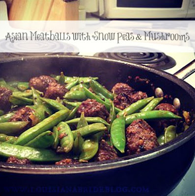 Attractively milf asian meatballs on snow peas picks her