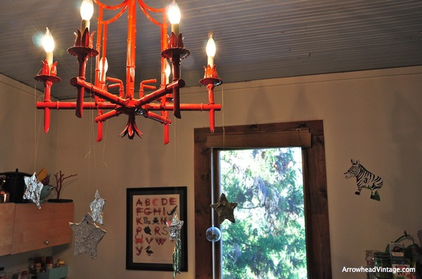 Louisianna Alphabet red asian chandelier antique home decor