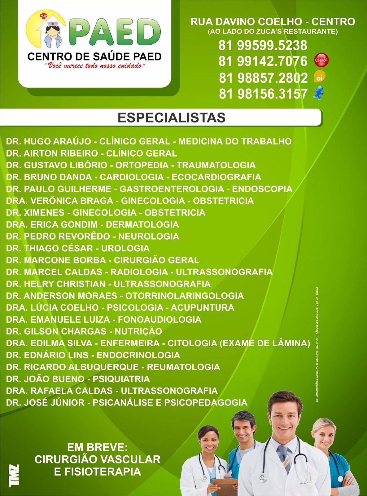 Publicidade - Centro de Saúde PAED