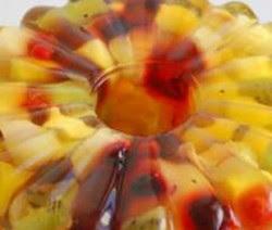 Receita de Salada de frutas com gelatina