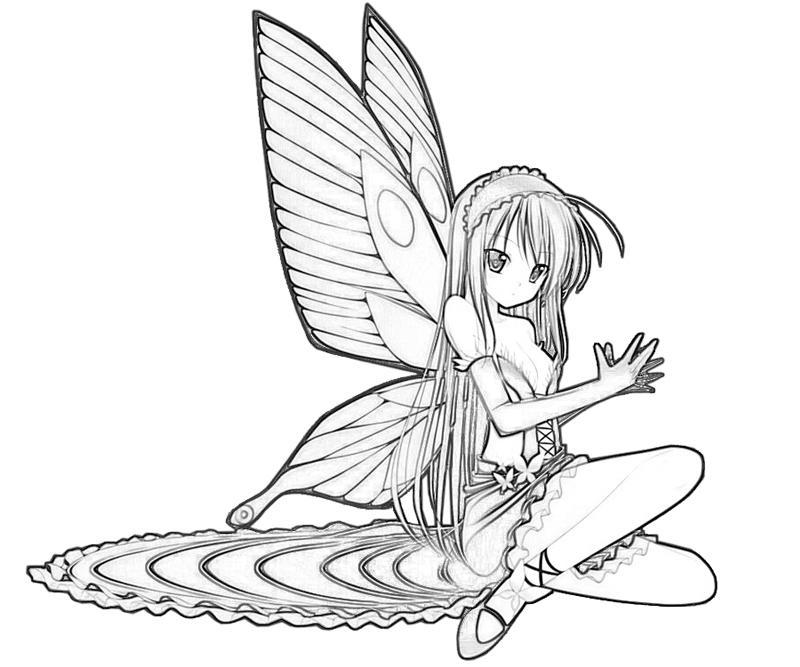 kuroyukihime-sitdown-coloring-pages