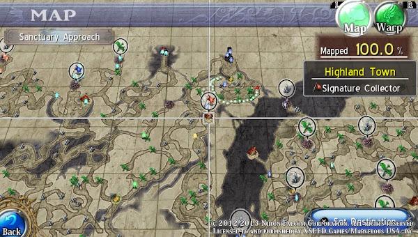 Ys: Memories Of Celceta Map