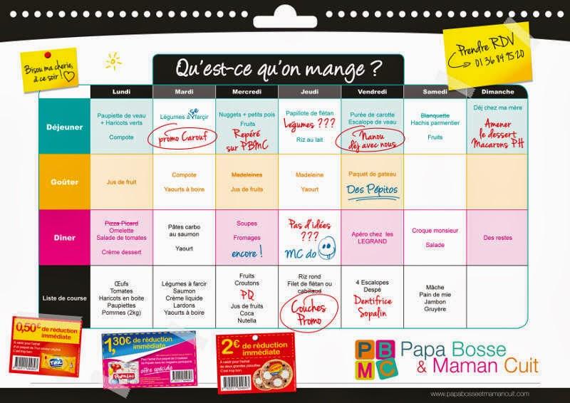 jeux d 39 enfants parents gagnez du temps quand vous faites vos courses menus de la semaine. Black Bedroom Furniture Sets. Home Design Ideas
