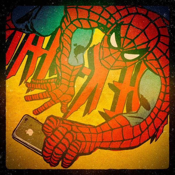 As selfies dos super-heróis - ilustração de Butcher Billy
