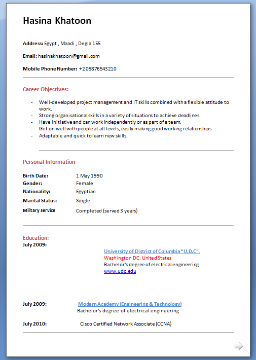 Doc580650 Profile Format Sample Business Profile 5 Documents – Profile Format