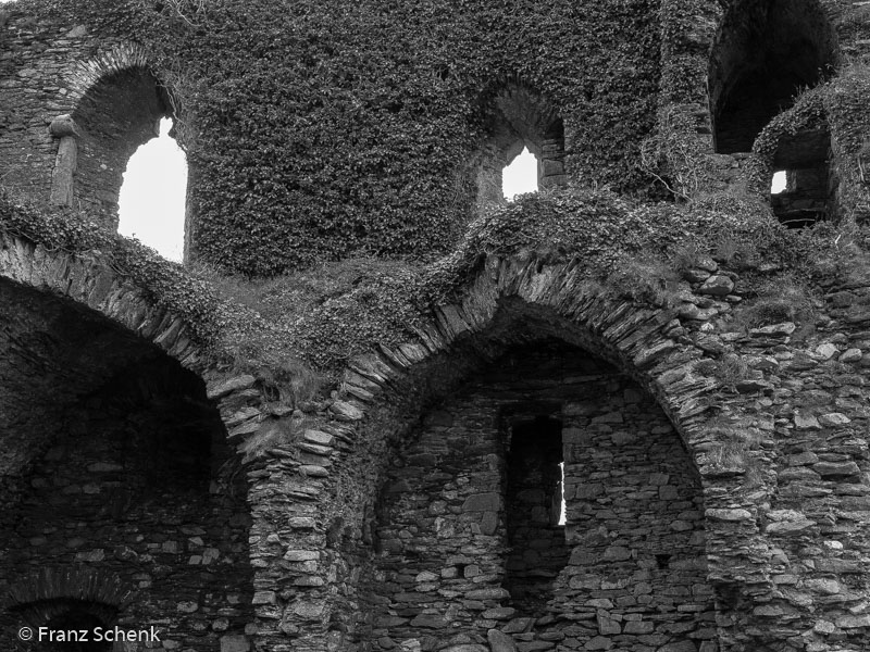 Inside the Castle ruins, Ballycarbery Castle
