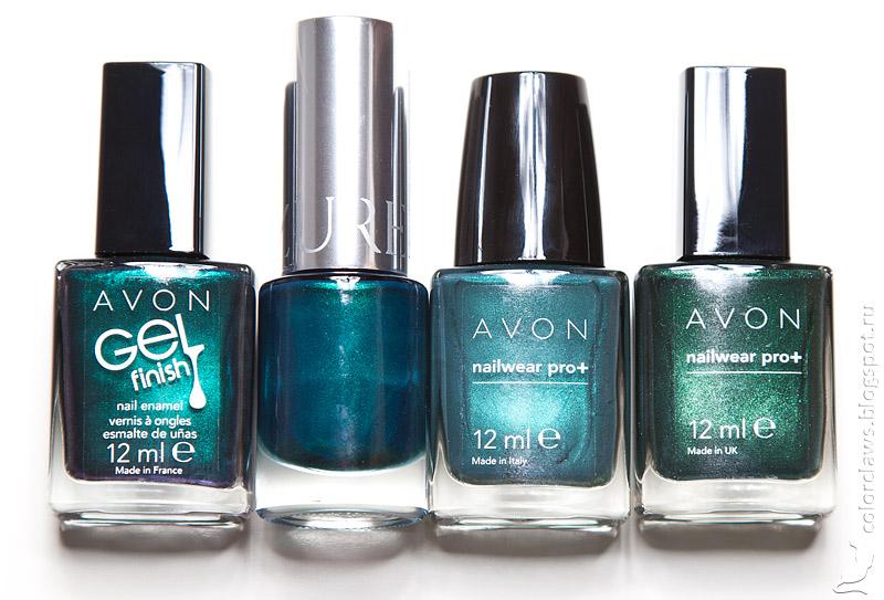 Yllozure Grassy vs. Avon green shimmers