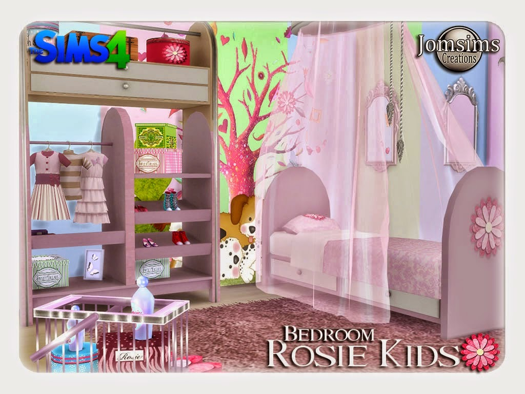 My Sims 4 Blog: Rosie Kid's Bedroom Set by JomSims