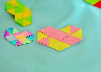 DIY corazones con tiras de papel San Valentin