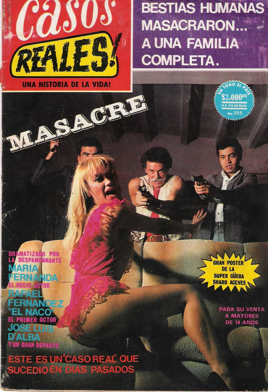 Mexico comic fotonovelas casos reales 301 al 305 - Casos de alcoholismo reales ...