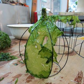 Lamparas con Pantallas de Algas Marinas, Decoración Ecologica