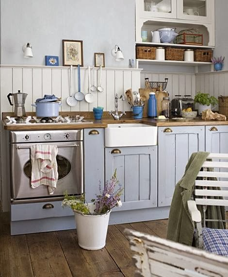 Deco estilo r stico en la cocina virlova style - Cocinas blancas rusticas ...