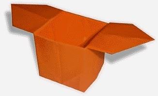 Hướng dẫn cách gấp hộp giấy có tay cầm đơn giản - Xếp hình Origami với Video clip - How to make a Box
